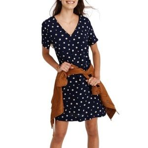 Madewell Button Back Easy Dress in Daisy Dots